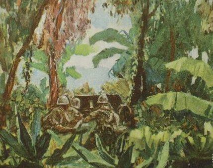 Takazawa Cache. Орудие в джунглях.