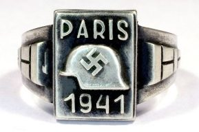 Памятные перстни о пребывании в Париже изготовлены из серебра 835-ой пробы с применением чернения.
