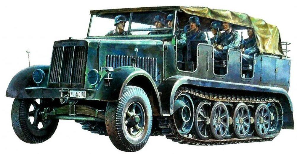 Onishi Masami. Полугусеничный грузовик Sd.kfz. 7 de 8ton.