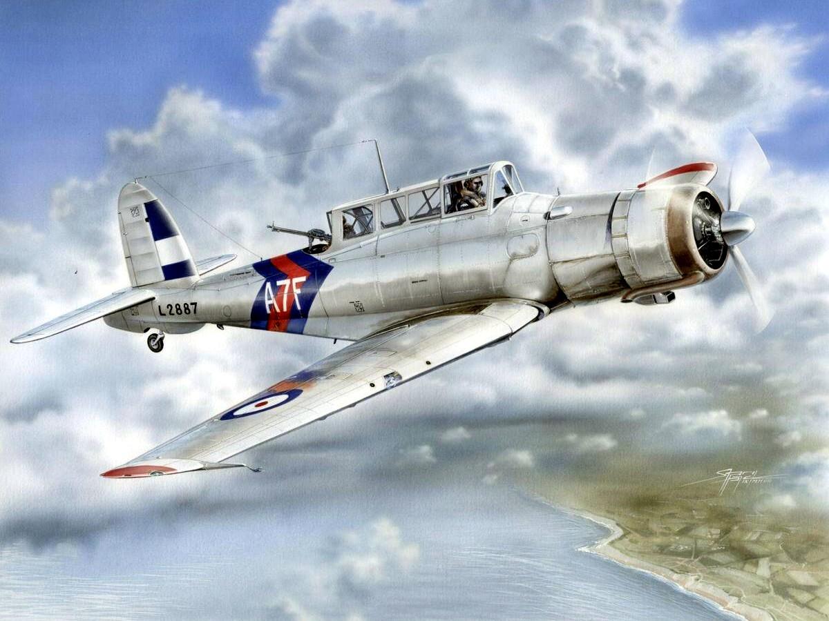 Hajek Stanislav. Палубный бомбардировщик Blackburn Skua Mk. II.