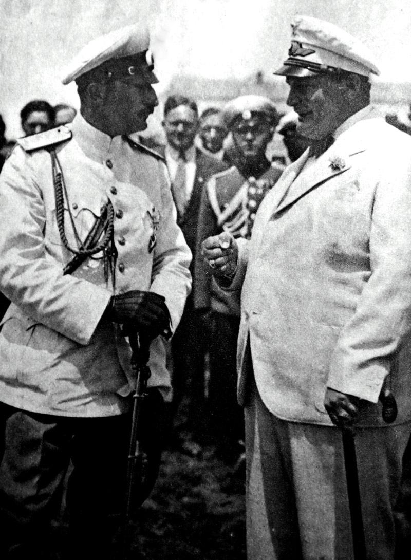 Герман Геринг и царь Борис III. 1935 г.