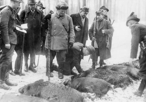 Герман Геринг на охоте. 1935 г.