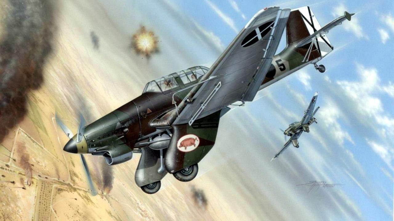 Hajek Stanislav. Бомбардировщик Ju-87A «Stuka».