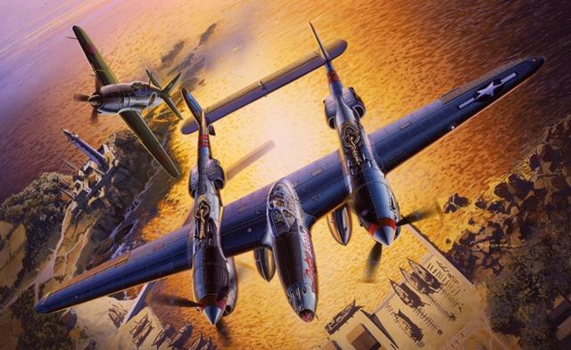 Satake Masao. Истребитель P-38J.