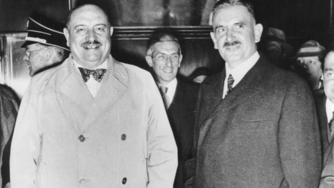 Руст Бернгард и Балинт Хоман. Венгрия. 1942 г.