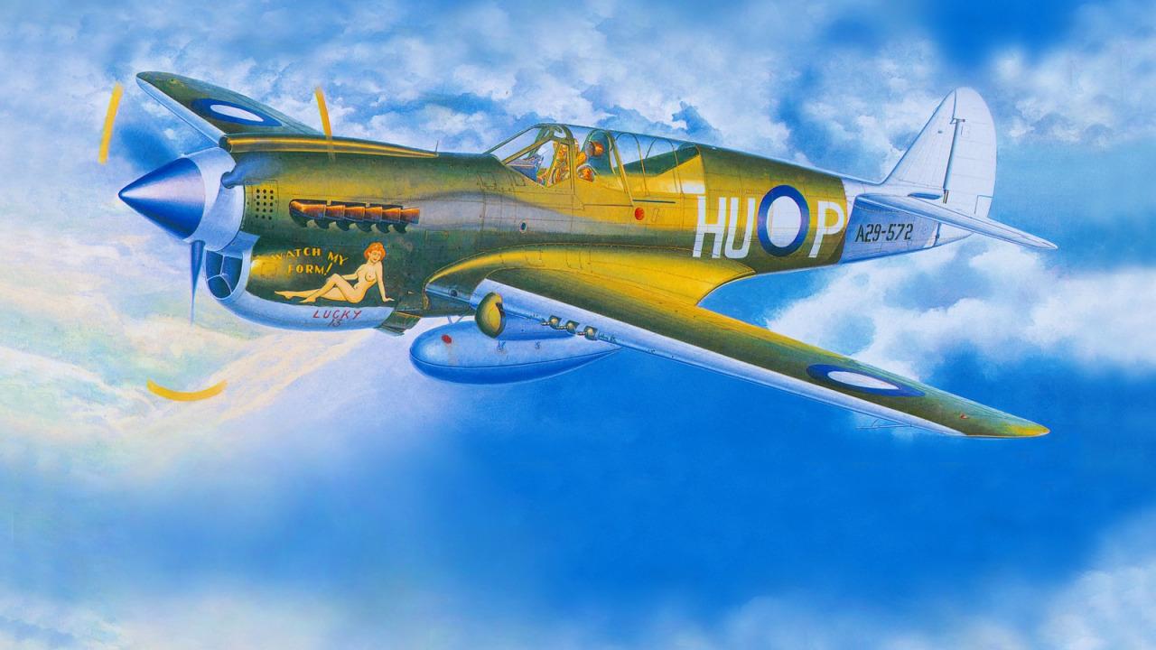 Satake Masao. Истребитель P-40.
