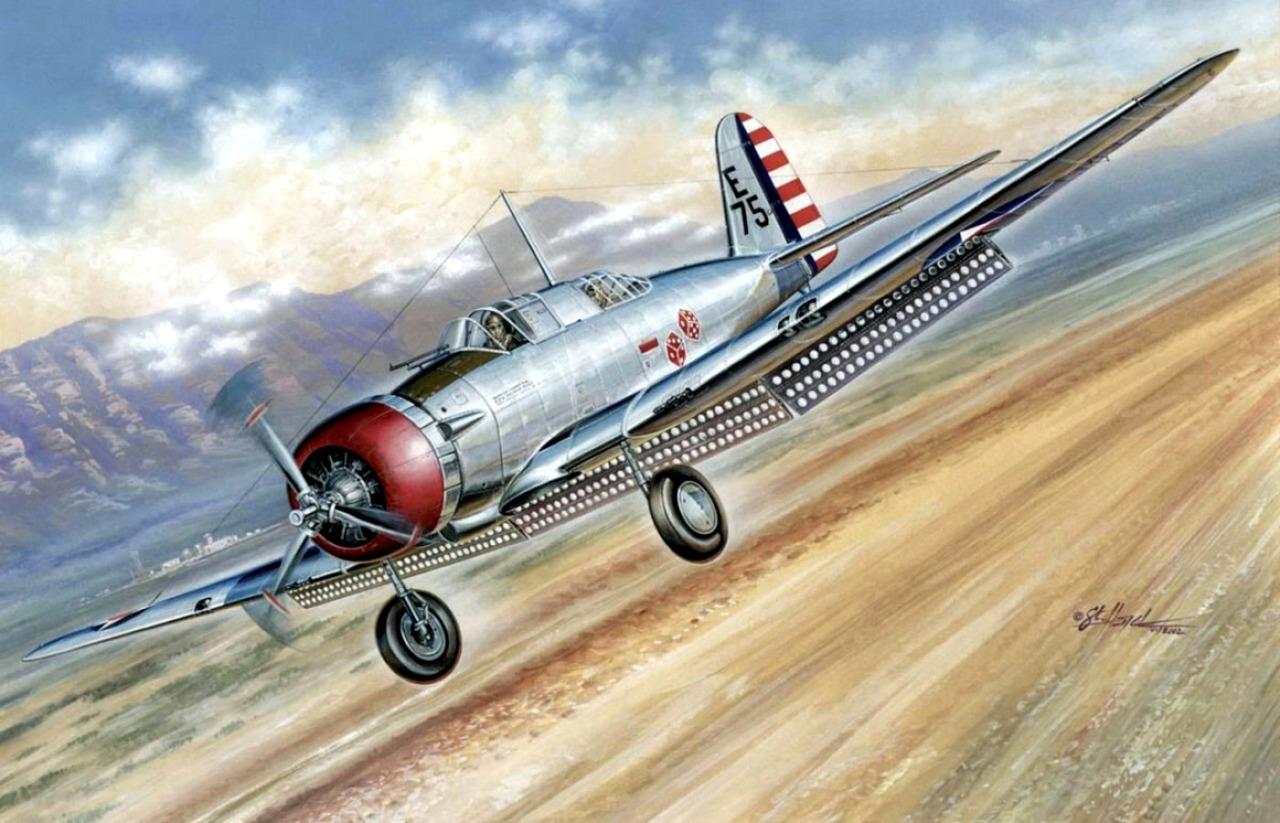 Hajek Stanislav. Штурмовик Northrop A-17.
