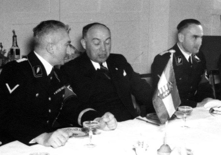 Вернер Бест прием делегации Венгерской полиции. Берлин.1939 г.