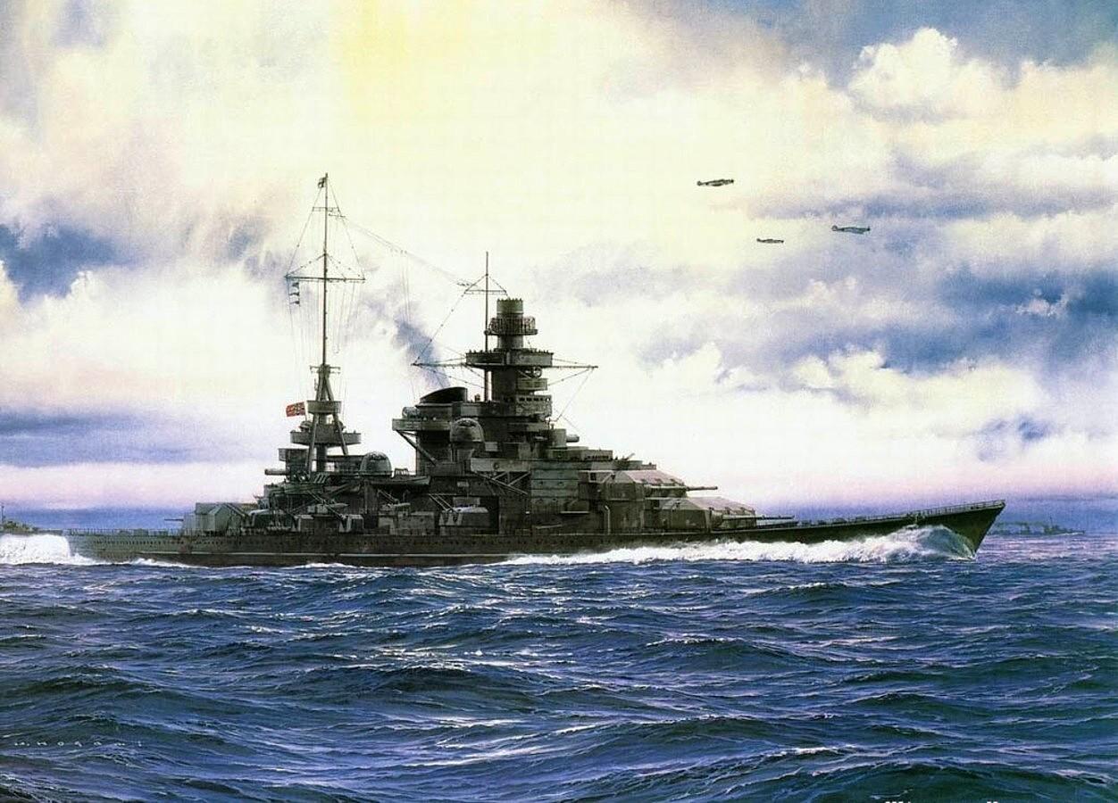 Yuki Takeshi. Линкор «Scharnhorst».