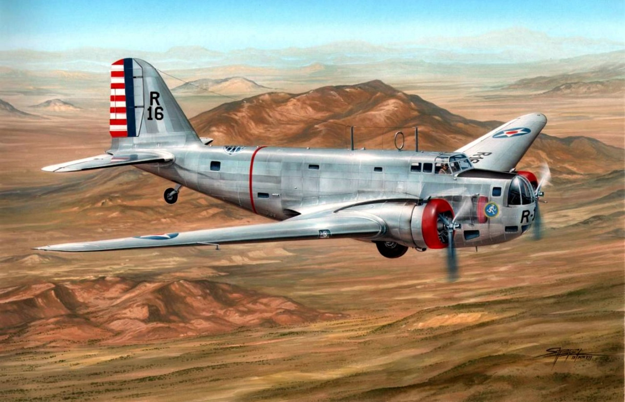 Hajek Stanislav. Бомбардировщик Douglas B-18 Bolo.