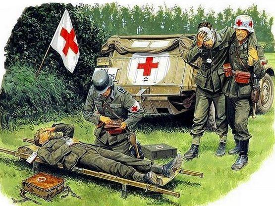 Volstad Ronald. Раненные сослуживцы.