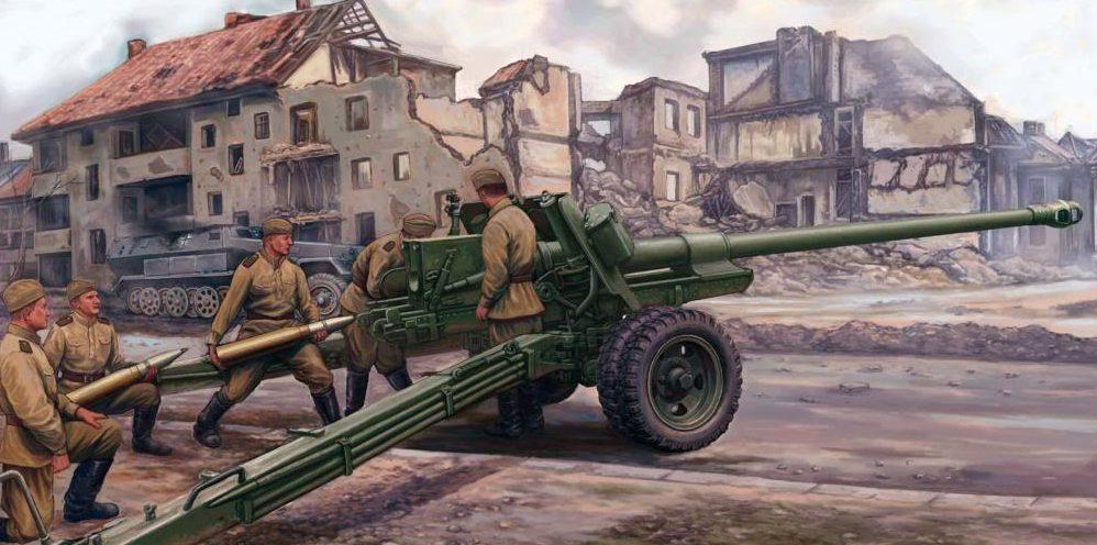 Wai Vincent. Расчет 100-мм орудия БС-3.