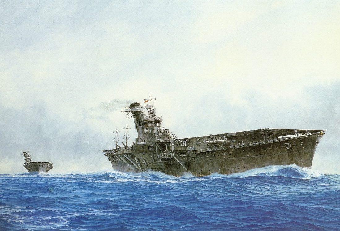 Takeshi Yuki. Авианосец «Hiyo».