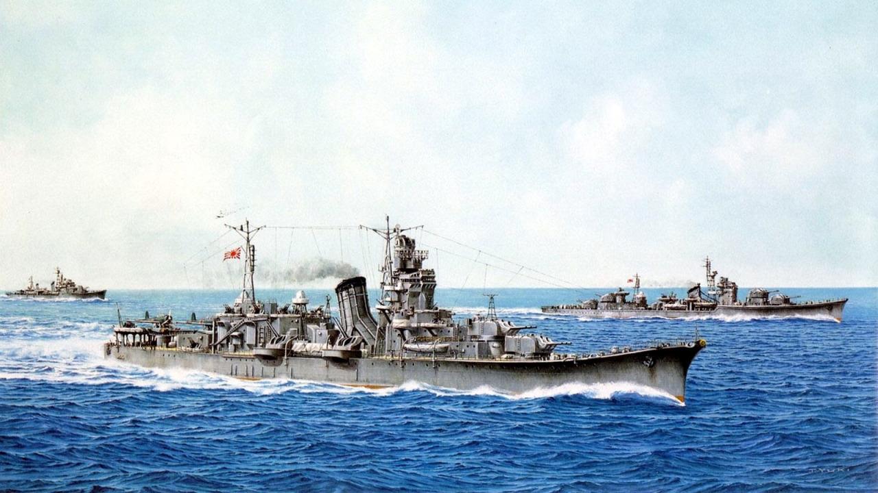Yuki Takeshi. Крейсер «Oyodo».