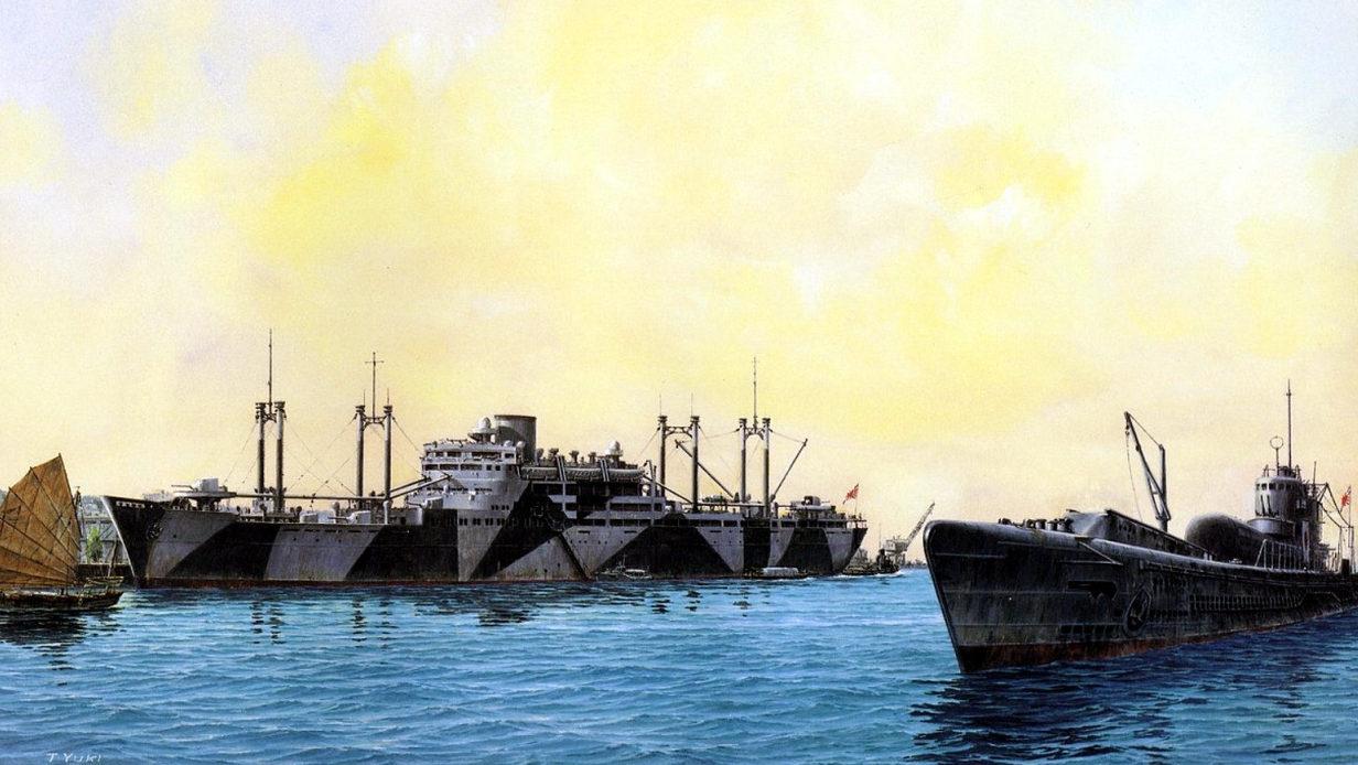 Yuki Takeshi. Вспомогательный крейсер Hokokumaru.