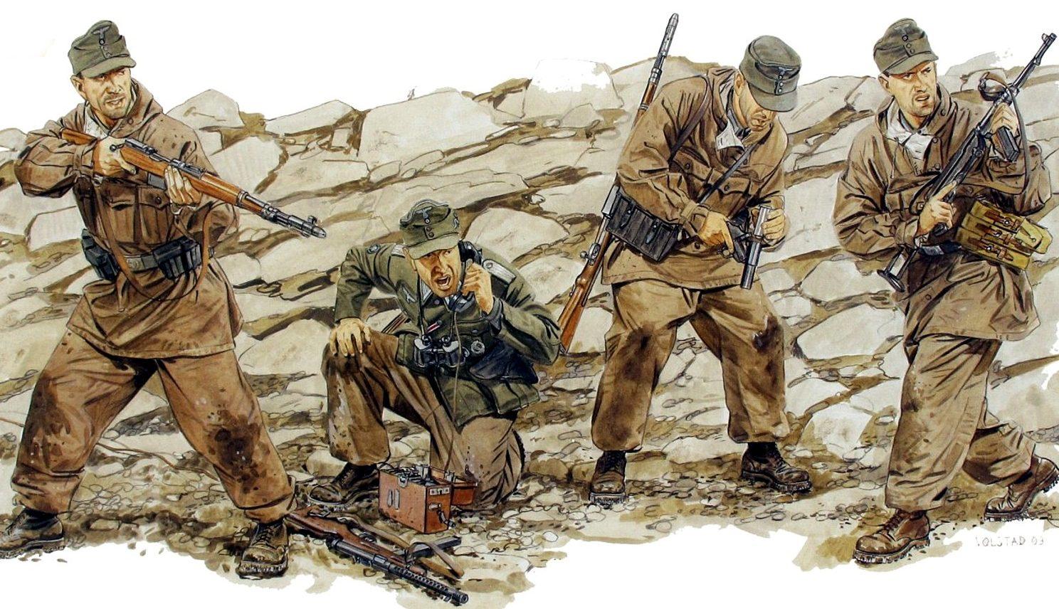 Volstad Ronald. Немецкие горные стрелки.