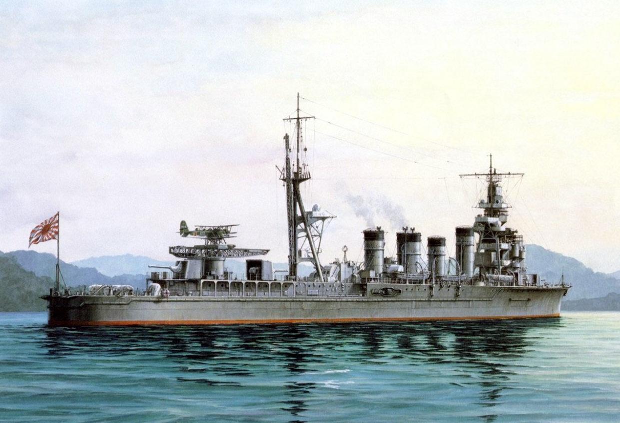 Yuki Takeshi. Легкий крейсер «Naka».