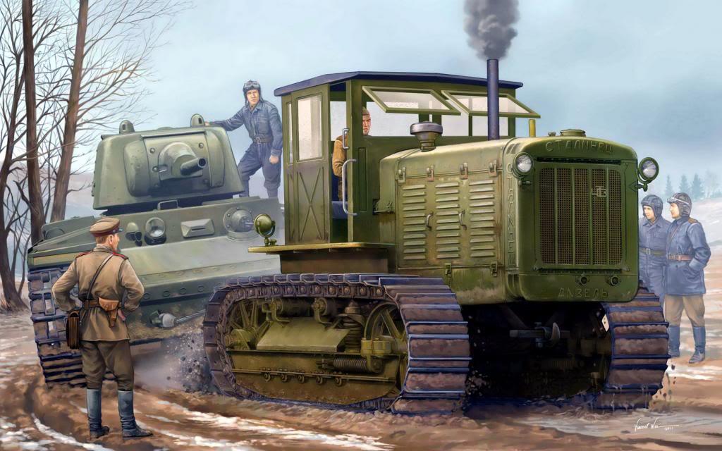 Wai Vincent. Артиллерийский тягач «Сталинец-65».