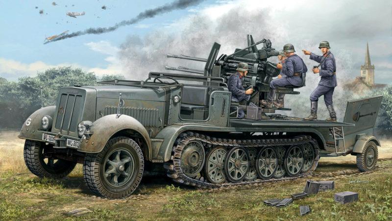 Wai Vincent. ЗСУ Sdkfz 7-1 2cm Flakvierling 38 Flak.
