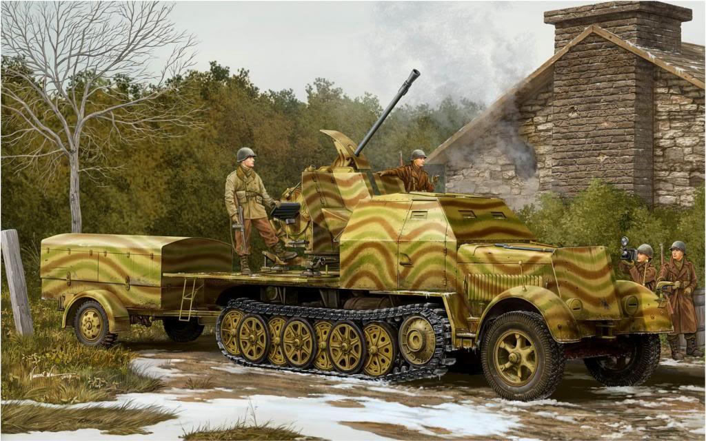 Wai Vincent. ЗСУ Sd.Kfz. 7-2 3.7 cm Flak 43.