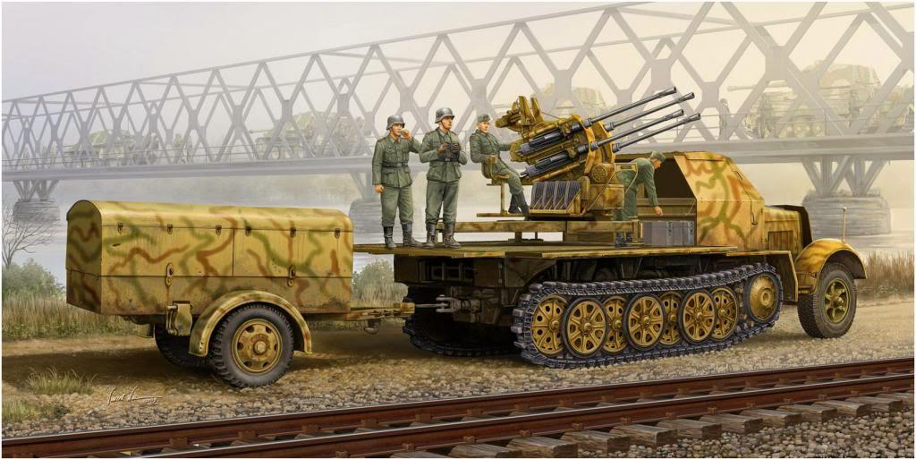 Wai Vincent. ЗСУ Sd.kfz. 7-1 2 cm Flakvierling.