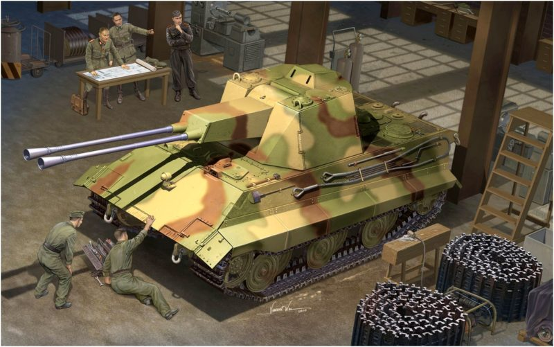 Wai Vincent. ЗСУ Flakpanzerwagen E-50 Falke.