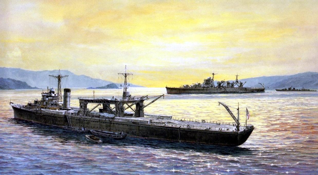 Yuki Takeshi. Военный транспорт Chitose.