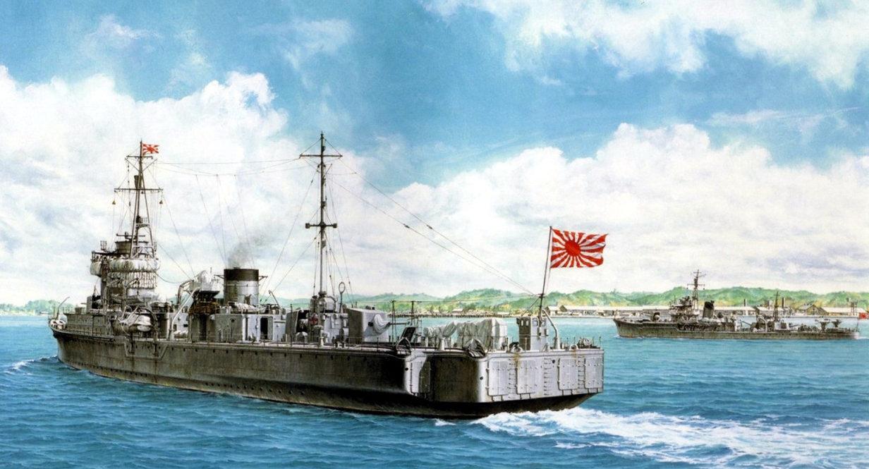 Yuki Takeshi. Миноносец Itsukushima.
