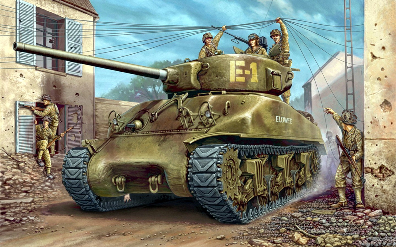 Wai Vincent. Танк M-4A1 Sherman.