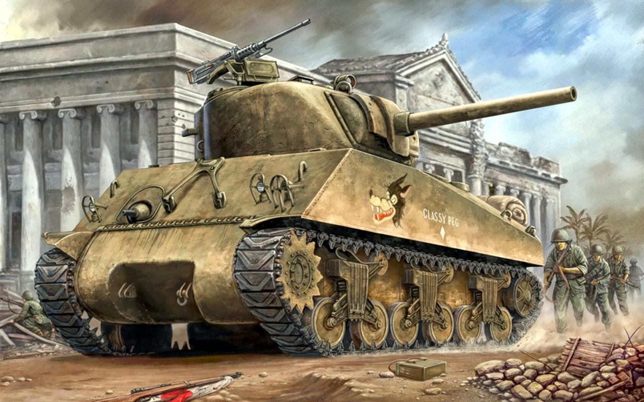 Wai Vincent. Танк M-4A3 Sherman.