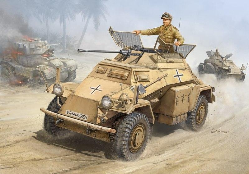 Wai Vincent. Бронеавтомобиль Sd.Kfz. 222.
