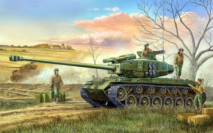 Wai Vincent. Танк М-26 «Pershing».