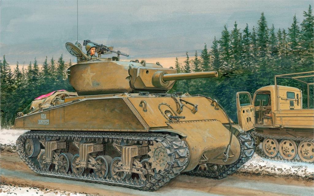 Volstad Ronald. Средний танк M-4A3E2 «Шерман».