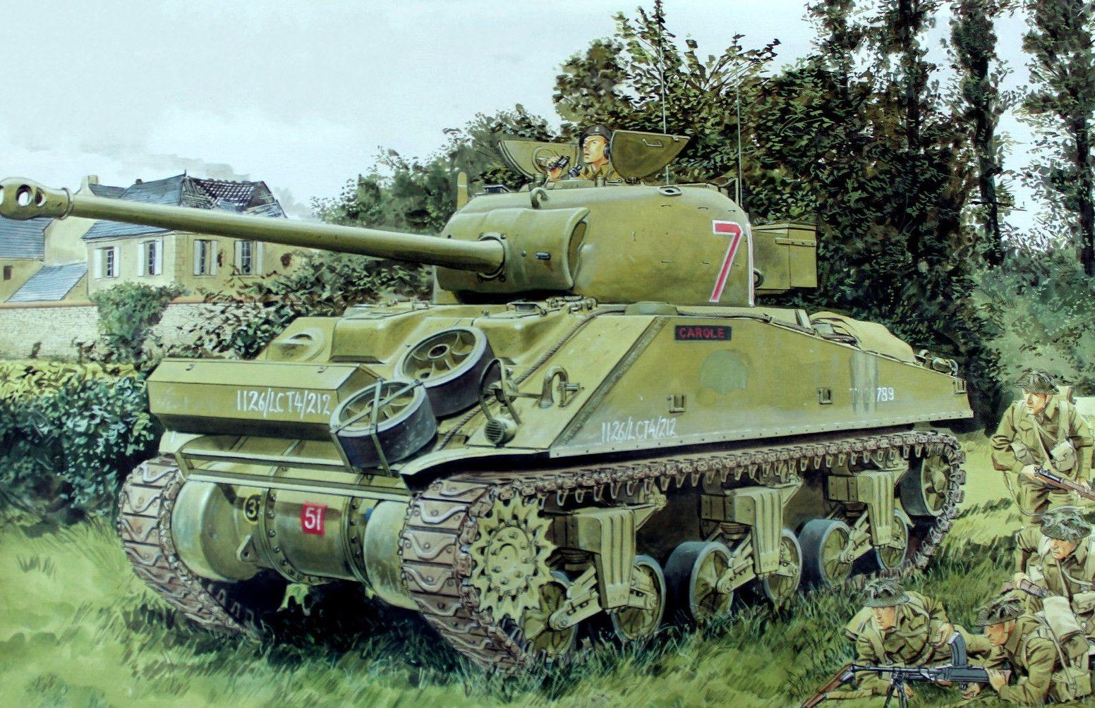 Volstad Ronald. Танк M-4A4.