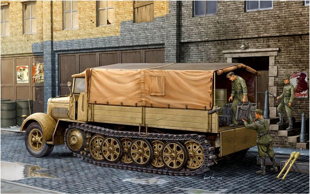 Wai Vincent. Полугусеничный грузовик Sd.kfz. 7.