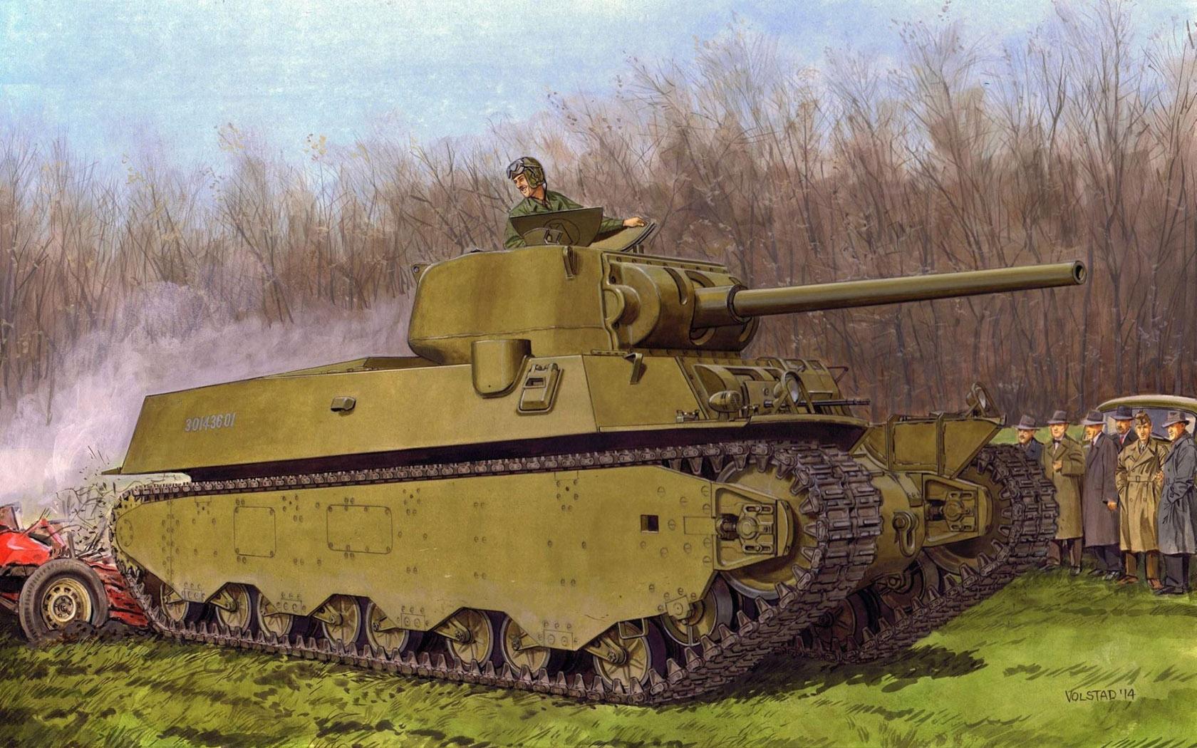 Volstad Ronald. Тяжелый танк M-6A1.