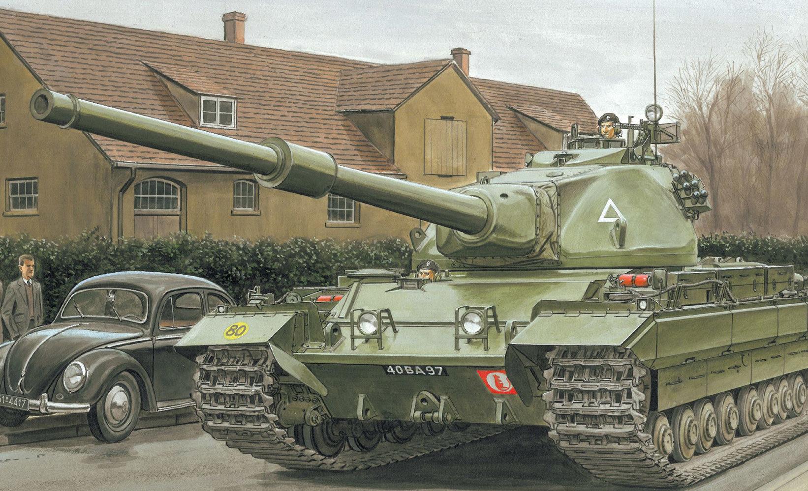 Volstad Ronald. Тяжелый танк Conqueror.