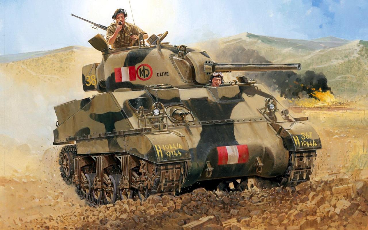 Volstad Ronald. Танк Sherman III.