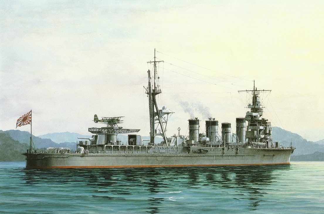 Takeshi Yuki. Крейсер «Naka».