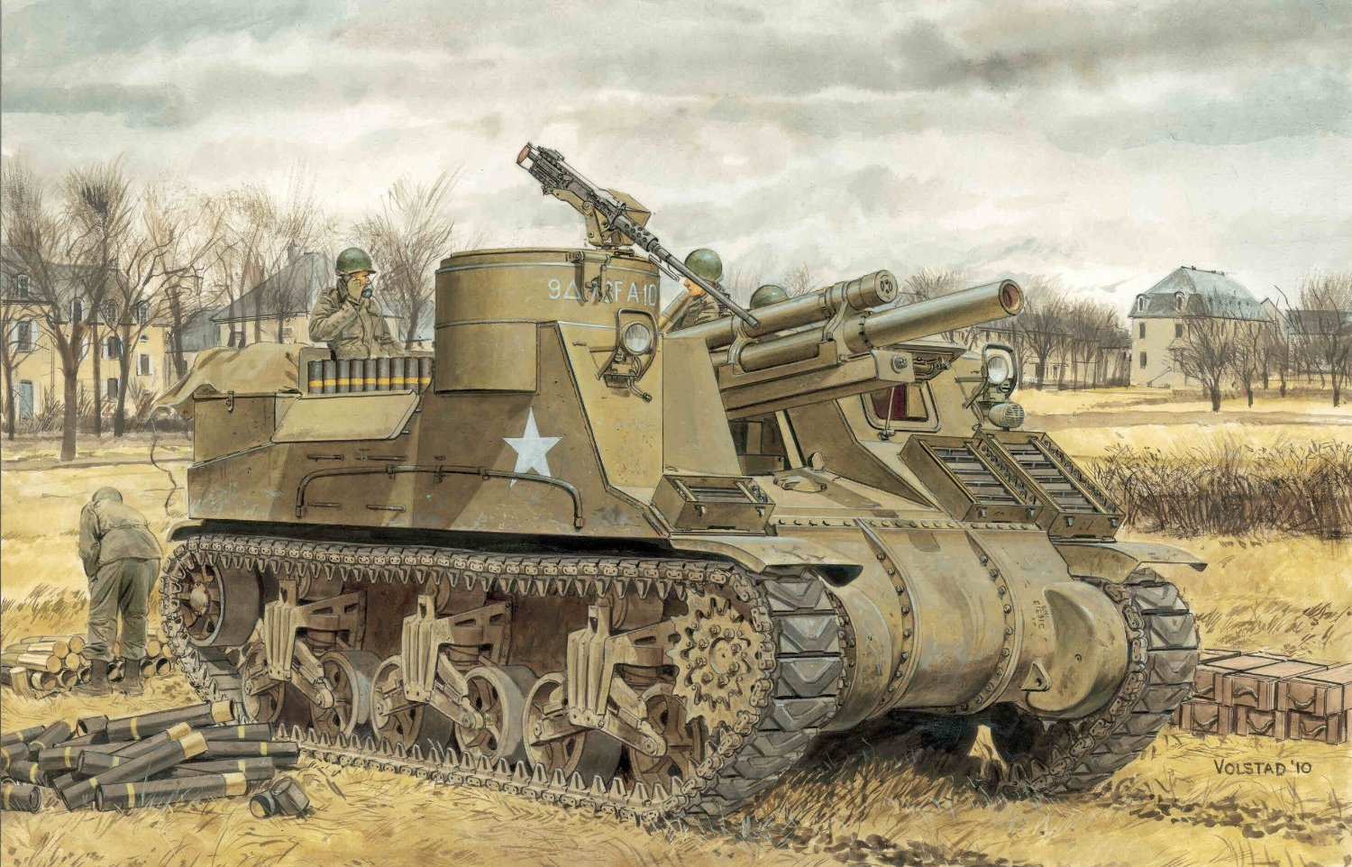 Volstad Ronald. САУ M-7 Priest (105mm Howitzer Motor Carriage M-7 Priest).