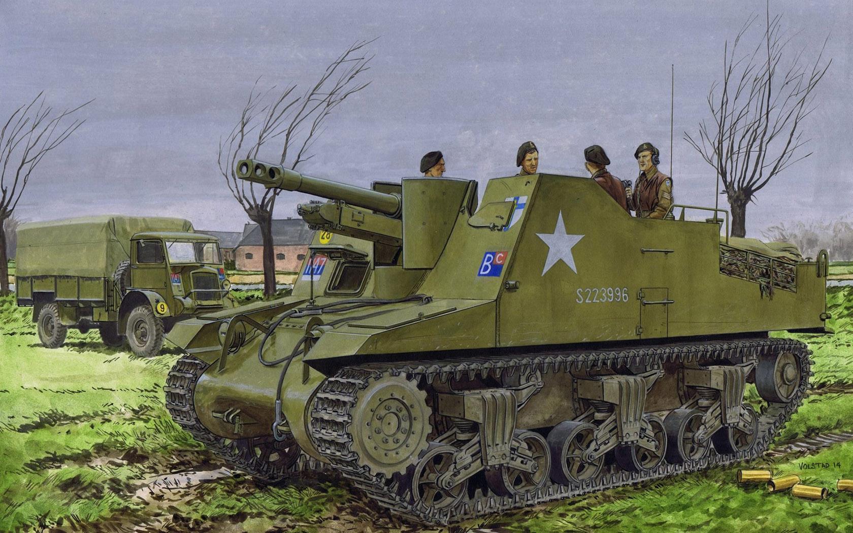 Volstad Ronald. САУ Sexton Mk.II.