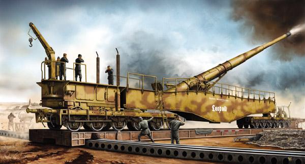 Wai Vincent. Ж/д. 280-mm орудие K5(E) «Leopold».
