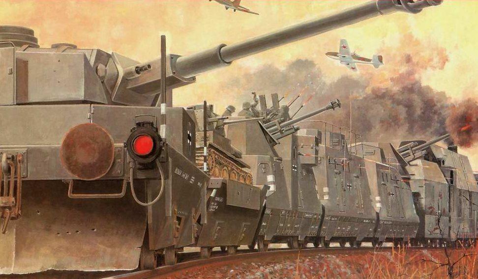 Wai Vincent. Немецкий бронепоезд отражает налет советской авиации.