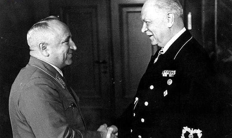 Генрих Дорпмюллер и Роберт Лей. 1944 г.
