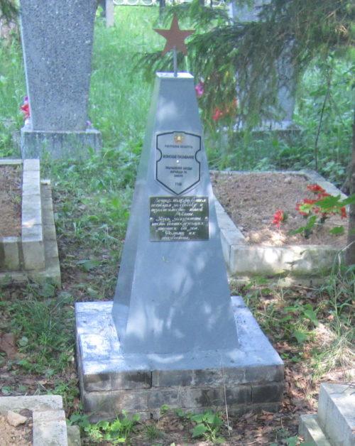 д. Малое Заполье Дрибинского р-на. Памятник установлен на братской могиле, в которой похоронено 6 советских воинов, погибших в годы войны.