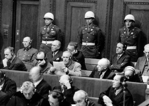 Вильгельм Фрик на Нюрнберском процессе. 1945 г.