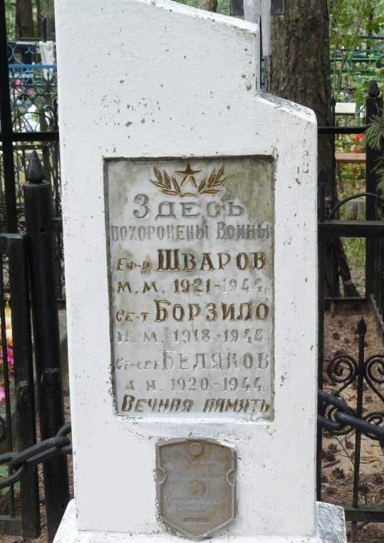 ст. Ясень Осиповичского р-на. Памятник установлен в 1967 году на братской могиле, в которой похоронено 3 воина, погибших в 1944 году.