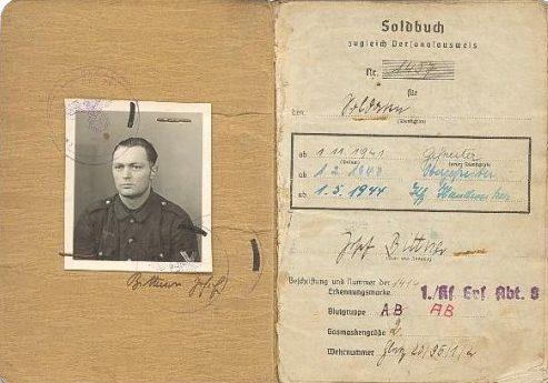 Солдатские книжки военнослужащих Вермахта.