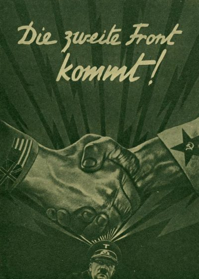 А эта листовка сообщает немецким солдатам о скором открытии второго фронта.