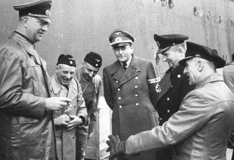 Карл Дёниц, Фридрих Фромм, Альберт Шпеер. 1942 г.